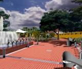 Jardim e Praça da Fonte da Bica. Itaparica, Brasil. 2001