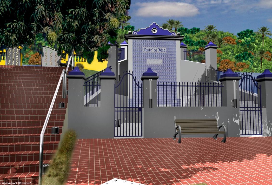 jardim e pra u00e7a da fonte da bica  itaparica  brasil  2001